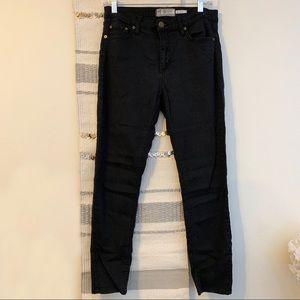 Free People • High Rise Black Skinny Jeans